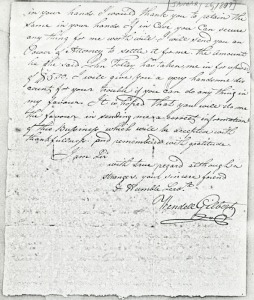 Letter to Wendell Gilbert to David Hutcheson - January 26, 1809 (page 2)