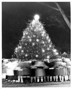 Christmas Tree Lighting on Winthrop's Campus - ca. 1958