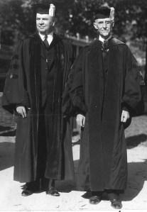 Dr. Shelton Phelps with Dr. James Pinckney Kinard at Phelp's Inauguration - November 9, 1934