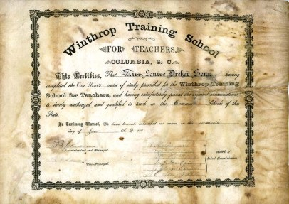 Louise Dreher Senn Diploma - June 17, 1887