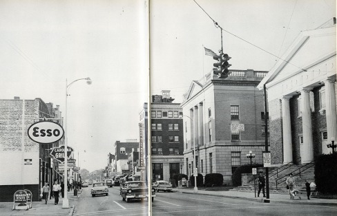 Image of Main Street in Downtown Rock Hill from the Winthrop Training School Yearbook - 1961