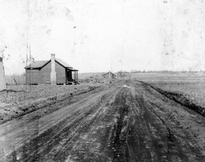 View of Cherry Road in Rock Hill - ca. early 1900s