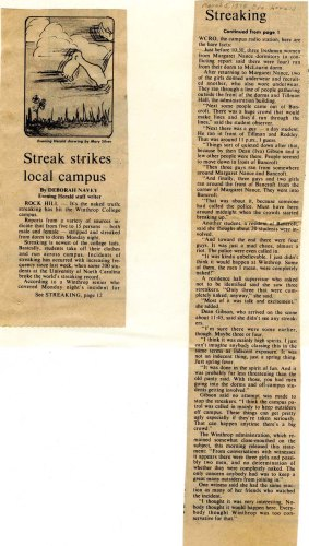 Streaking- March 5, 1974- Evening Herald