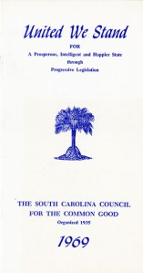 SC Council for the Common Good Pamphlet- 1969