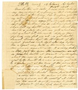 John Jones Letter (page 01) - 1841