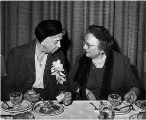 Margaret Bryant (right) with Eleanor Roosevelt- March 10, 1959
