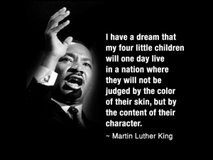 MLK Jr quote and image