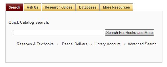 quick catalog search