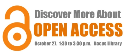 Open Access event graphic with date & location
